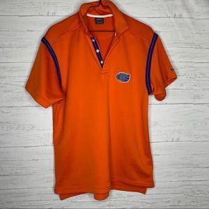 Nike men's orange Florida gator polo shirt/M